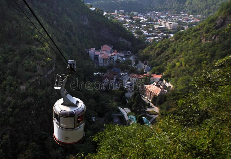 View from the cable car to Borjomi stock photo
