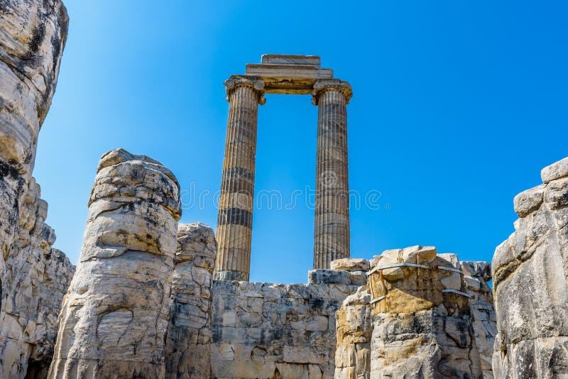 Apollo Temple at Didyma in Didim,Aydin,Turkey. royalty free stock photography