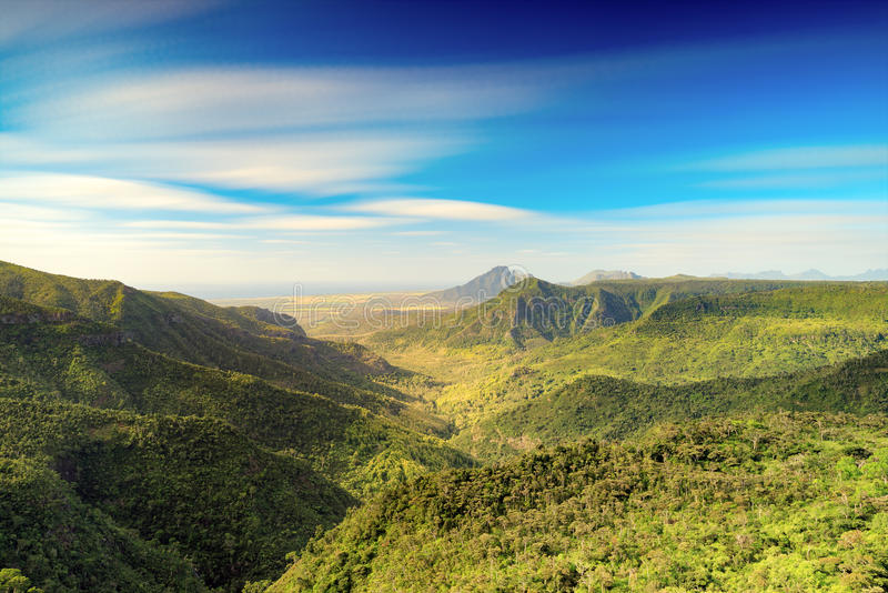 View from the Gorges viewpoint. Mauritius. View from the Gorges viewpoint. Black River Gorges national park. Mauritius royalty free stock images