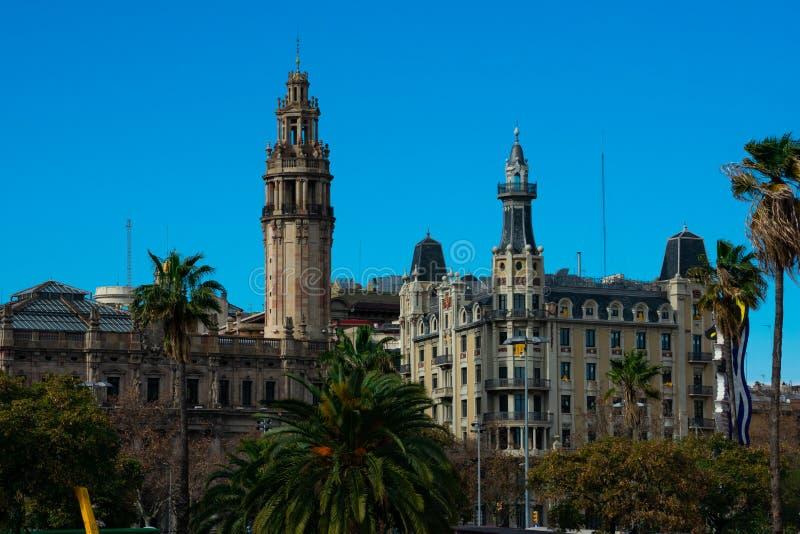 View of Gothic Quarter Barrio Gotico. Barcelona, Spain. February 10, 2019. View of Gothic Quarter Barrio Gotico stock photography