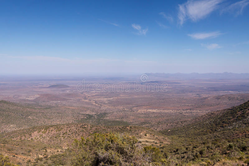 The View - Graaff-Reinet Landscape stock photography