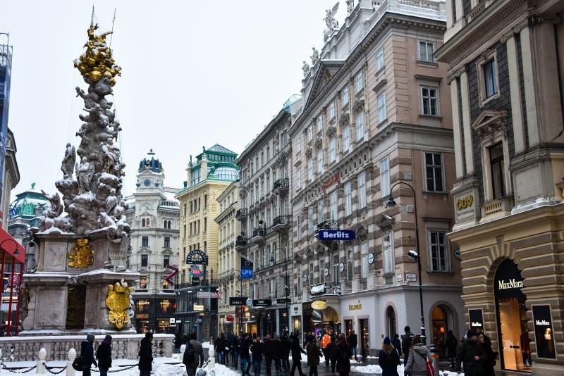 View of Graben Street Graben Strasse stock photography