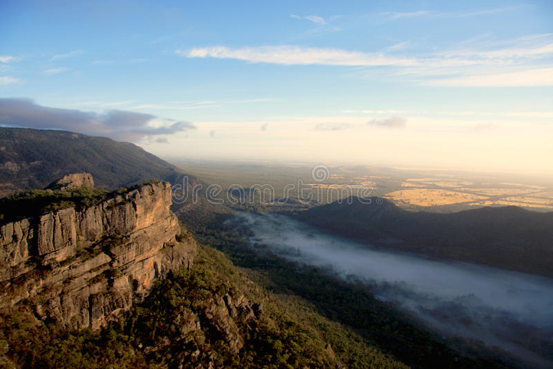 A view of the Grampians. A view of the landscapes at the top of the grampians royalty free stock photos