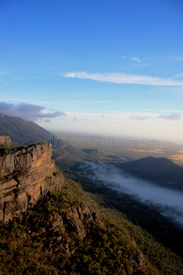 A view of the Grampians. A view of the landscapes at the top of the grampians stock photos