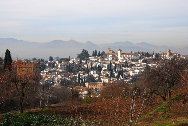 View of Granada from the Alhambra royalty free stock photos