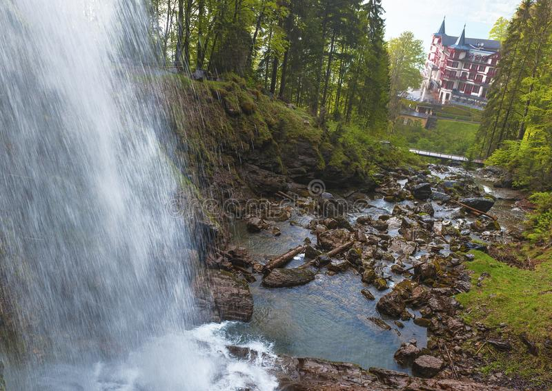 Giessbach waterfall stock images