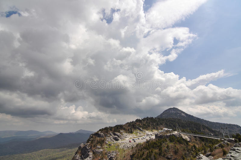 View Of Grandfather Mountain And The Swinging Bridge Royalty Free Stock Image