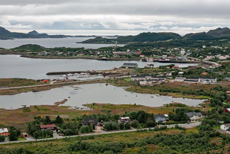 View of Gravdal city, Norway stock photo