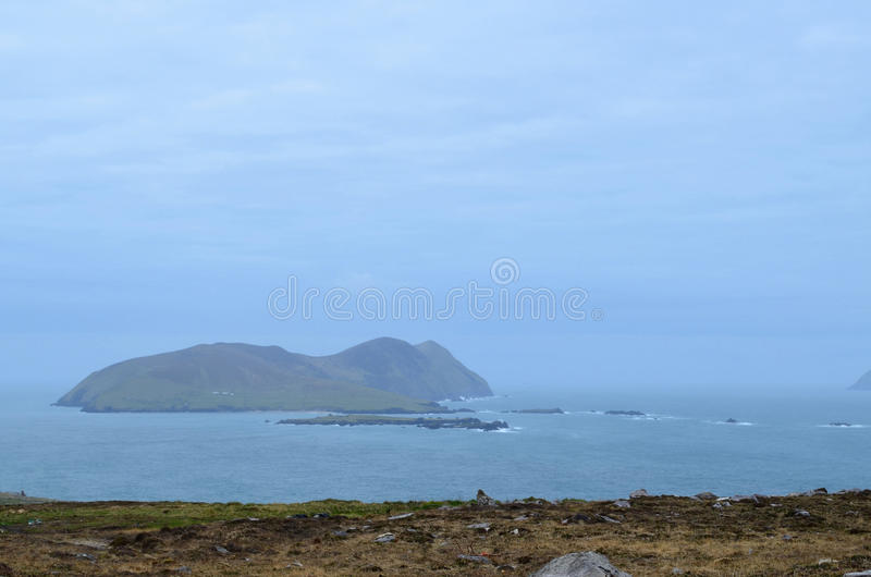 View of Great Blasket Island Off of Ireland stock image