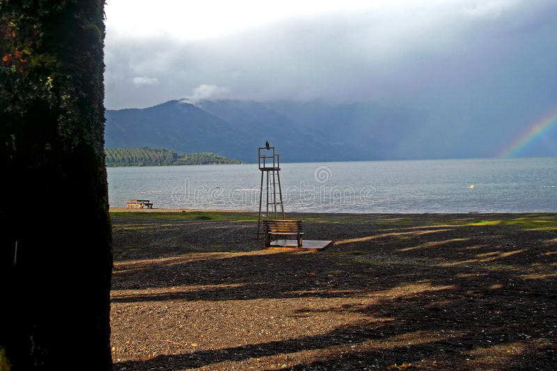 View of a great chilean lake royalty free stock photography