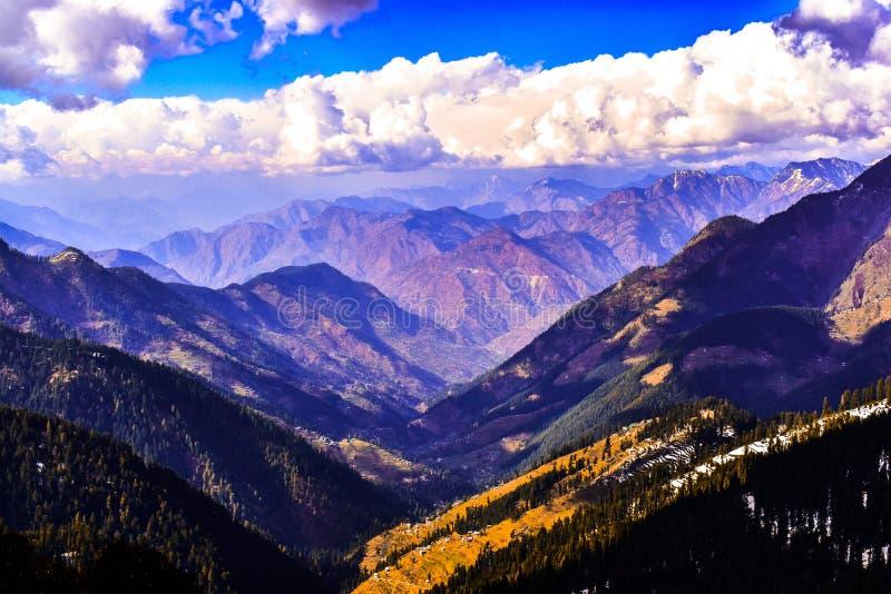 View of great  himalaya national park form jalori pass in   himachal pradesh royalty free stock photos