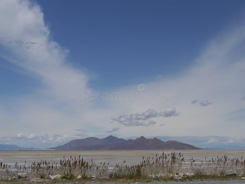 View of Great Salt Lake, Utah, USA royalty free stock image