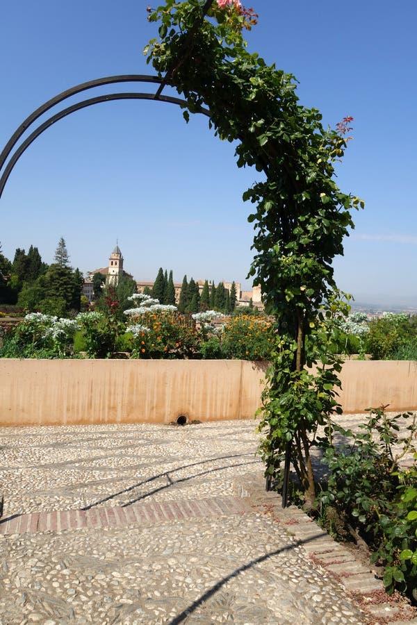 Generalife Garden at Alhambra -Granda, Spain stock photo
