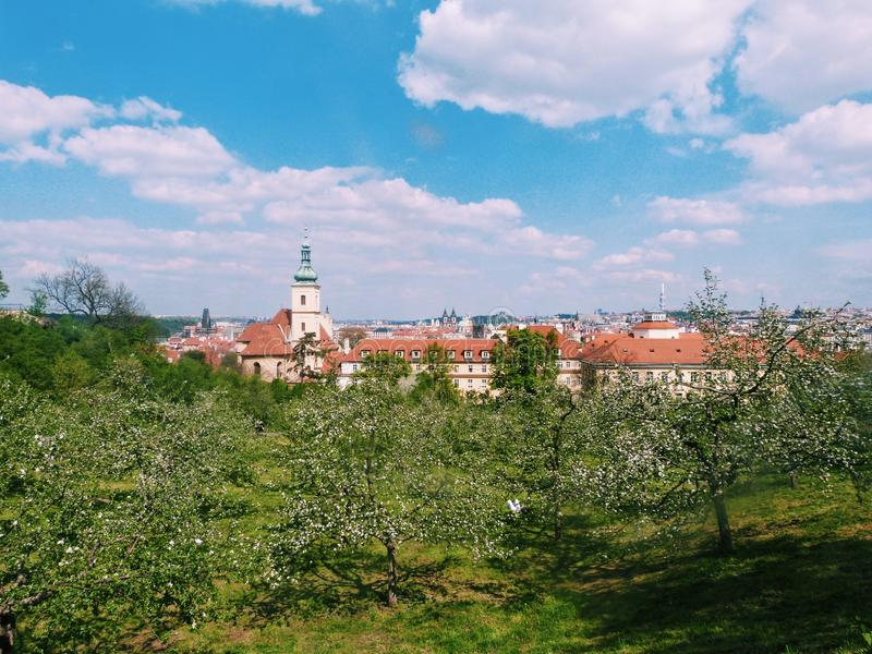 View of the green Prague, Czech Republic royalty free stock image