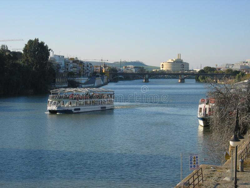 View of the Guadalquivir river in Seville, Spain. Europe royalty free stock photography