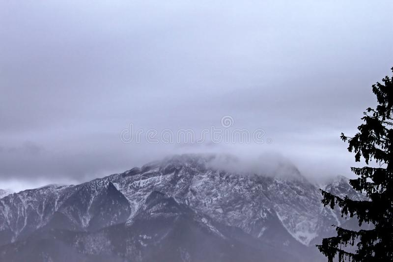 View from Gubalowka 1,126 m on the top of Tatry mountains, Zakopane royalty free stock image