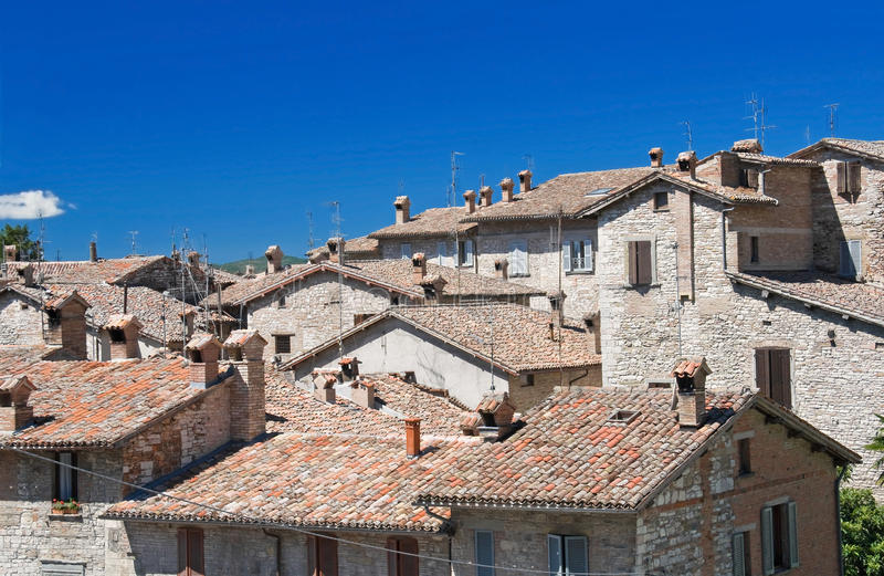 Download View of Gubbio. Umbria. stock photo. Image of roofing - 15825758