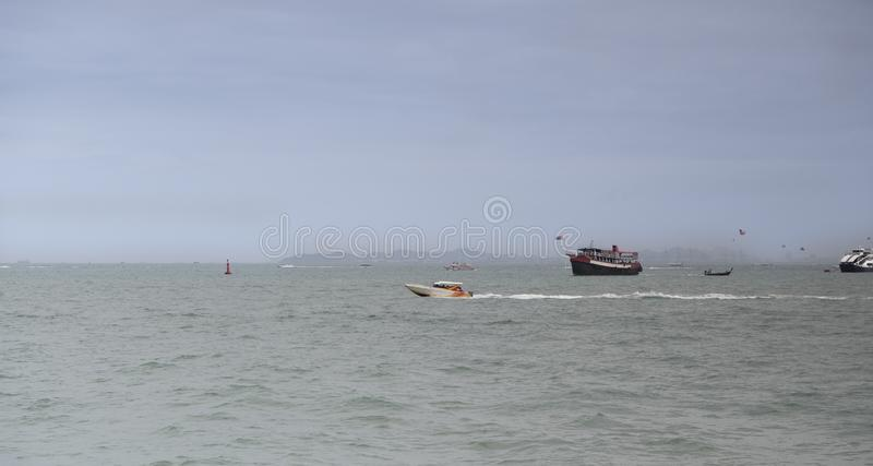 View of the Gulf of Siam  .Thailand - September 07, 2019.  stock photos