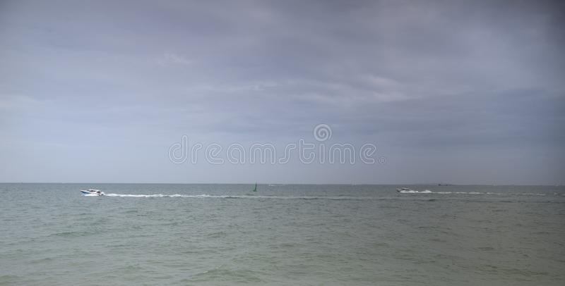 View of the Gulf of Siam  .Thailand - September 07, 2019.  stock images