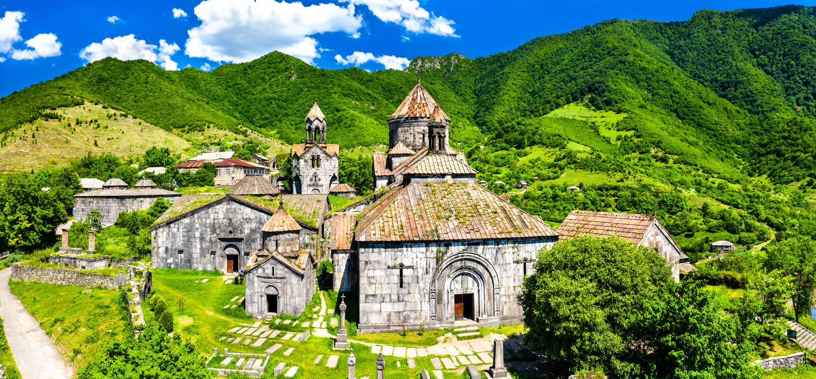 Haghpat Monastery, UNESCO world heritage in Armenia. View of Haghpat Monastery, UNESCO world heritage in Armenia royalty free stock image