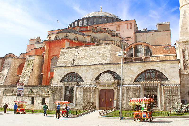 View of Hagia Sophia, Istanbul, Turkey stock photo