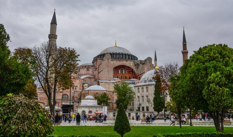 View of Hagia Sophia in Istanbul, Turkey royalty free stock photos