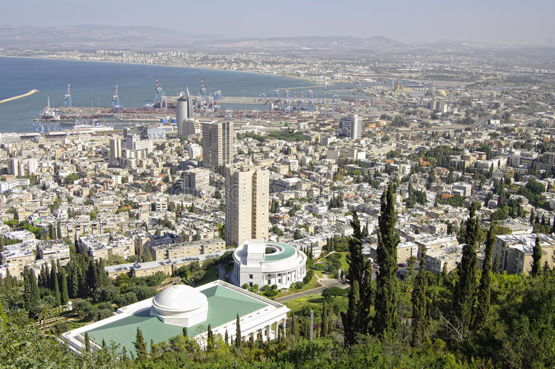 View Of  Haifa. Israel. Royalty Free Stock Photos