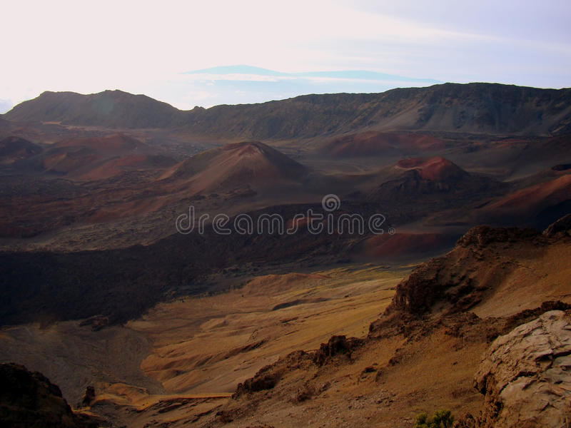 A view of Haleakala National Park, Maui, Hawaii royalty free stock image