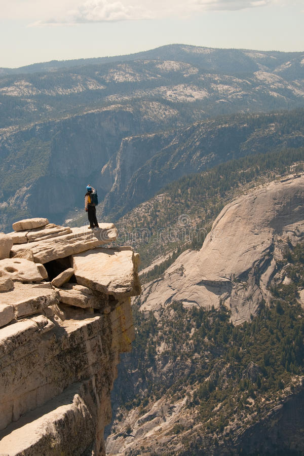 View from Half Dome. A view from the Half Dome in Yosemite National Park in California stock photo