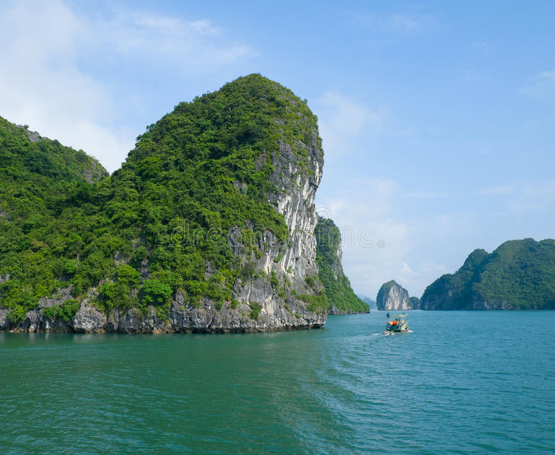 Download View of Halong Bay stock image. Image of boat, landscape - 31333323