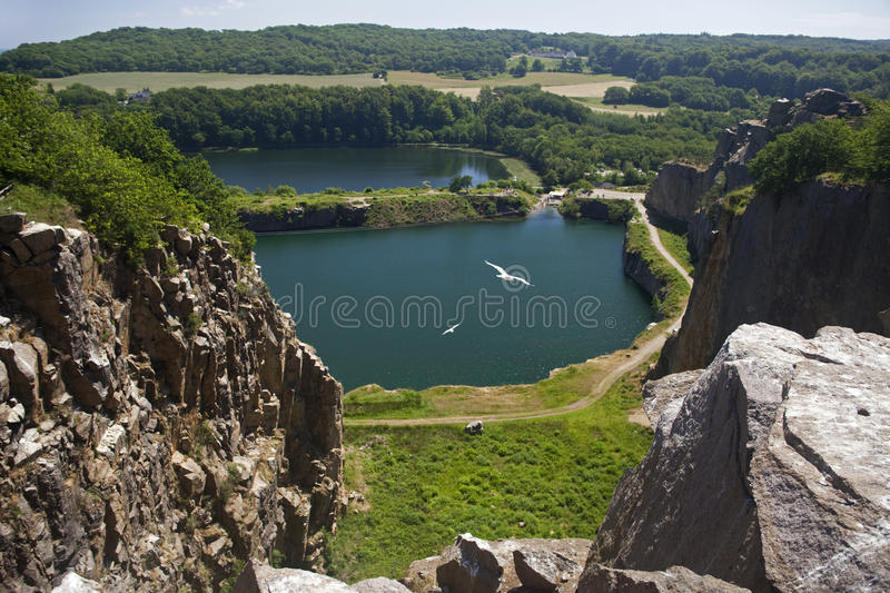View from Hammeren to the South. Bornholm. Denmark royalty free stock images