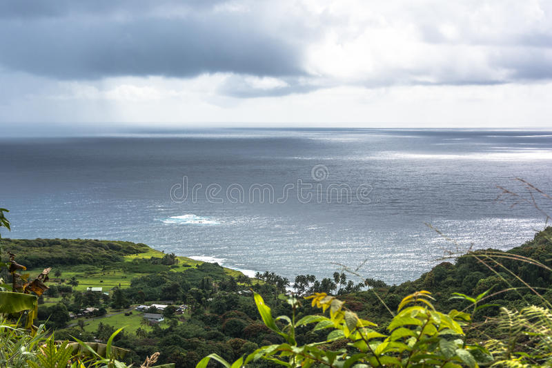 View from Hana Highway, Maui, Hawaii royalty free stock image