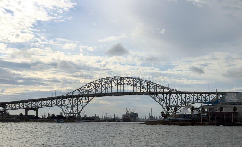 Harbor bridge in Corpus Christi, Texas royalty free stock images