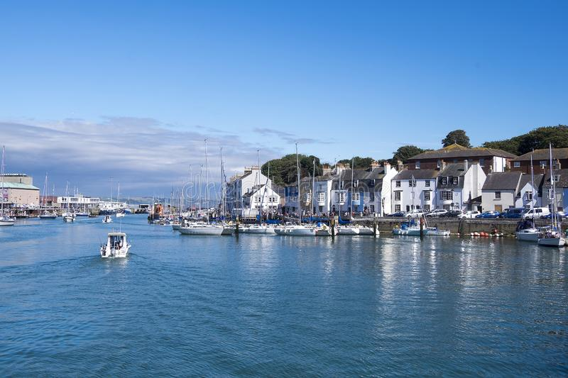 View of the harbour north wales stock images