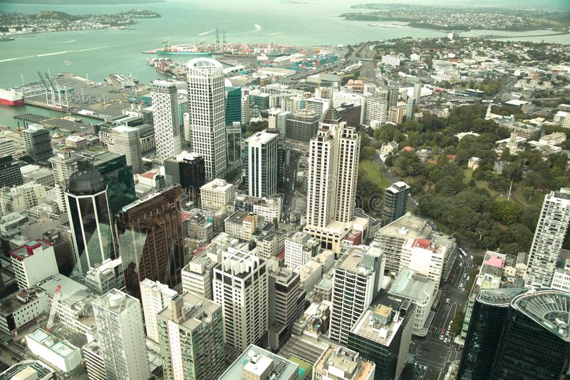 VIew of Auckland city in New Zealand royalty free stock photography