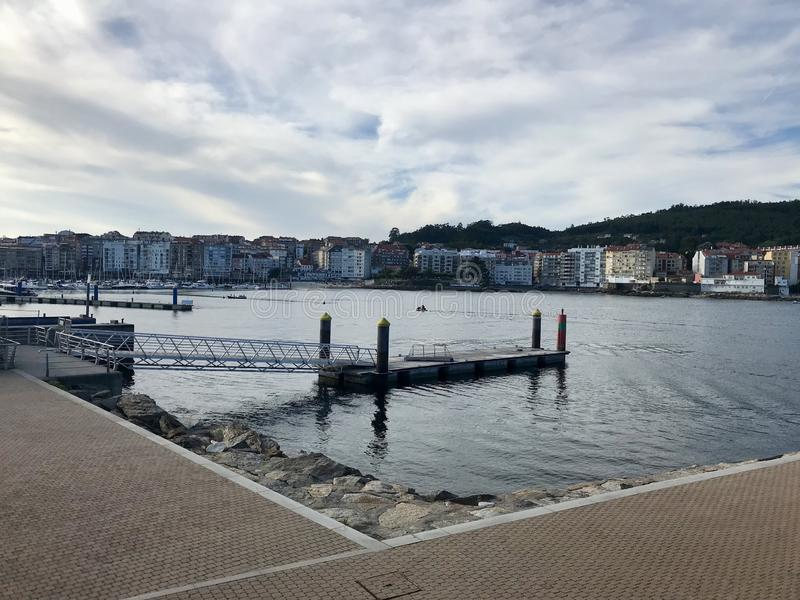 View of the harbour in Sanxenxo Galicia Spain royalty free stock photos