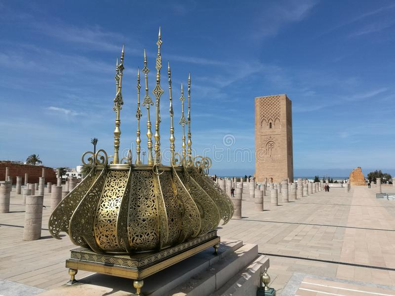 View on Hassan tower - Morocco. Nice view on the Hassan Tower in Rabat Morocco stock images