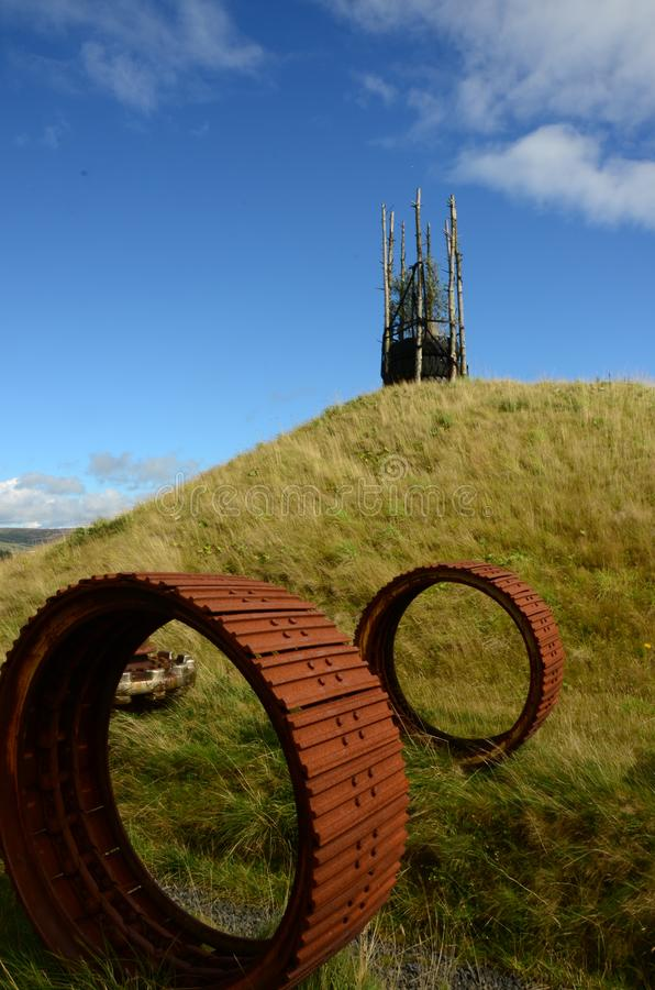Wheels - Regeneration of Former Opencast Site royalty free stock photography