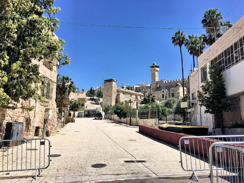 A view of Hebron in Israel royalty free stock photography