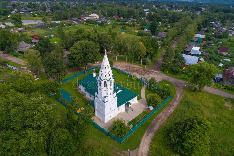 Church of the Intercession aerial photography. Tutaev, Russia royalty free stock photos