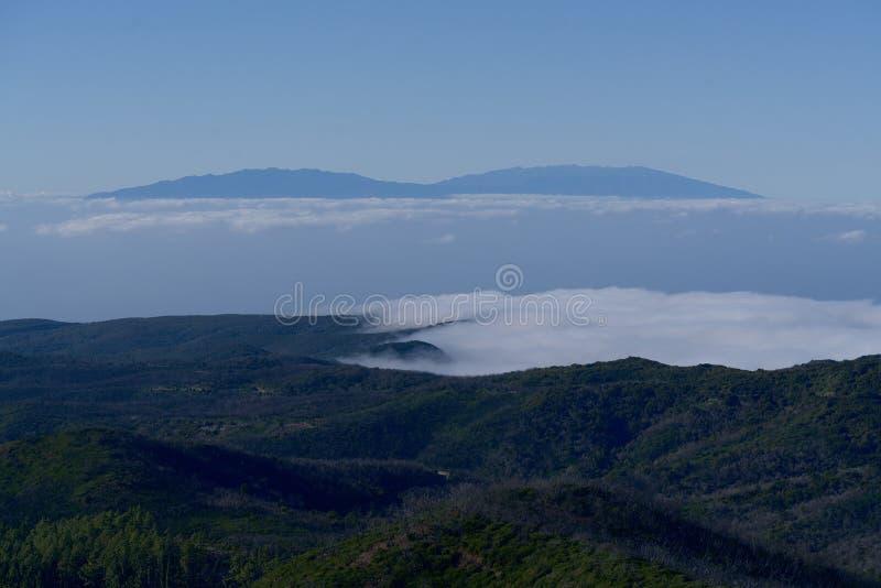 From La Gomera to La Palma. View from the height of La Gomera to La Palma royalty free stock photo