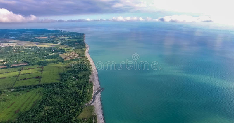 The view from the height on the surface of the earth royalty free stock image