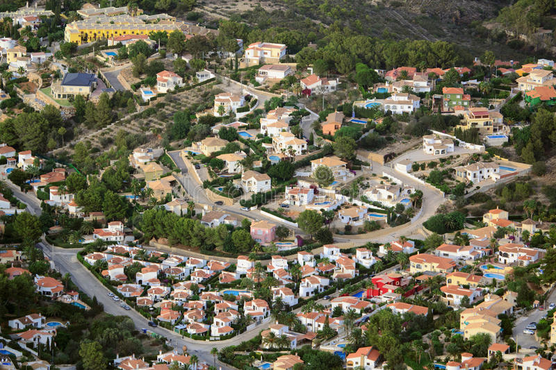 View from the heights in Denia. View from the top of Mount Montgo, Denia, Spain royalty free stock image