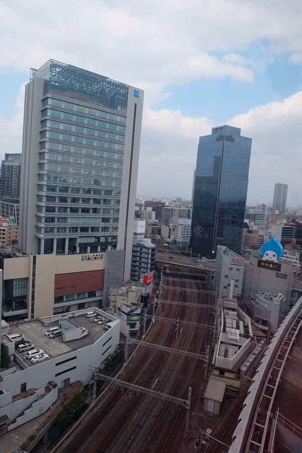 View from HepFive, Osaka, Japan royalty free stock photography