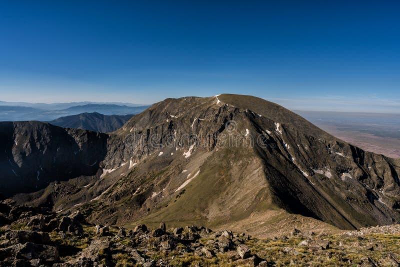View of Herard Peak, Sangre de Cristo range, Colorado Rockies. View of Herard from Mt. Medano. Colorado Rockies stock image