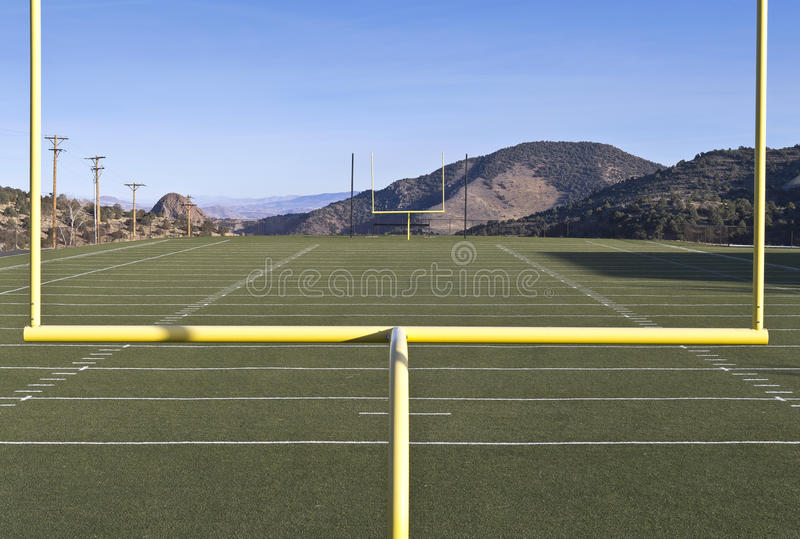 View Of A High School Football Field Stock Images