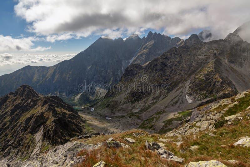 View on high Tatra Mountains from Jahnaci stit peak, Slovakia, Europe stock photos