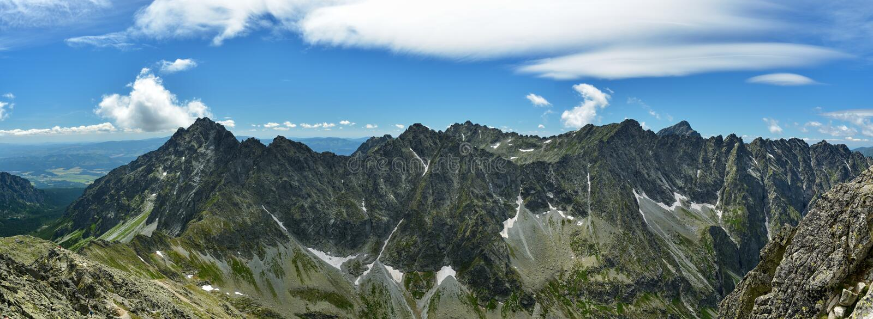 View on High Tatras with famous Krivan peak stock photos