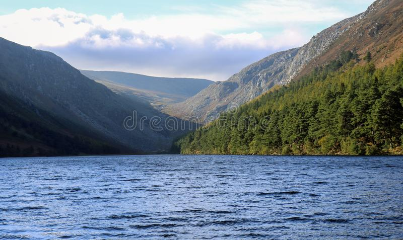 View of The Higher Lake. Glendaloh. royalty free stock photos
