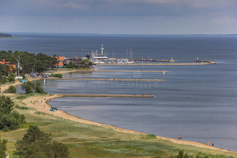 View from the highest dune over the curonian Spit. Lithuania stock photos